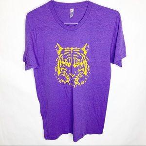 American Apparel LSU Tiger Purple Gold T-Shirt